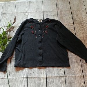 croft & barrow Sweaters - 4 piece lot of button up cardigan sweaters